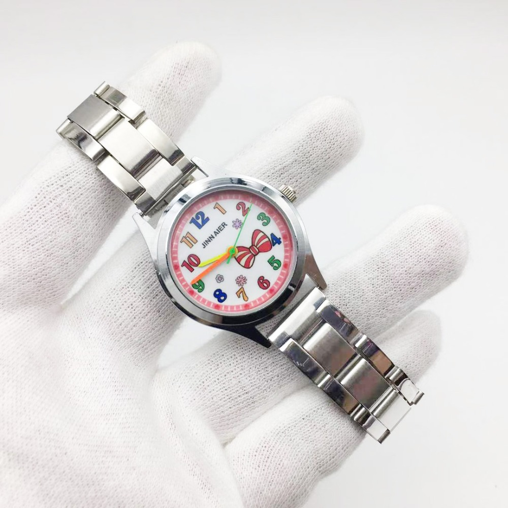 hot fashion 3D cartoon quartz watch for women small case elegent ladies wristwatch  stainless steel bracelet female clock vogue relojes para mujer free shipping cheap (9)