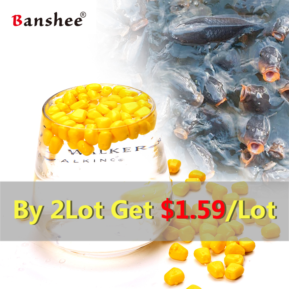 High Quality 100Pcs/Lot Fishing Corn Floating Boilies Flavoured Soft Lure Grass Carp Bait Silicone Soft Plastic Bait Artificial