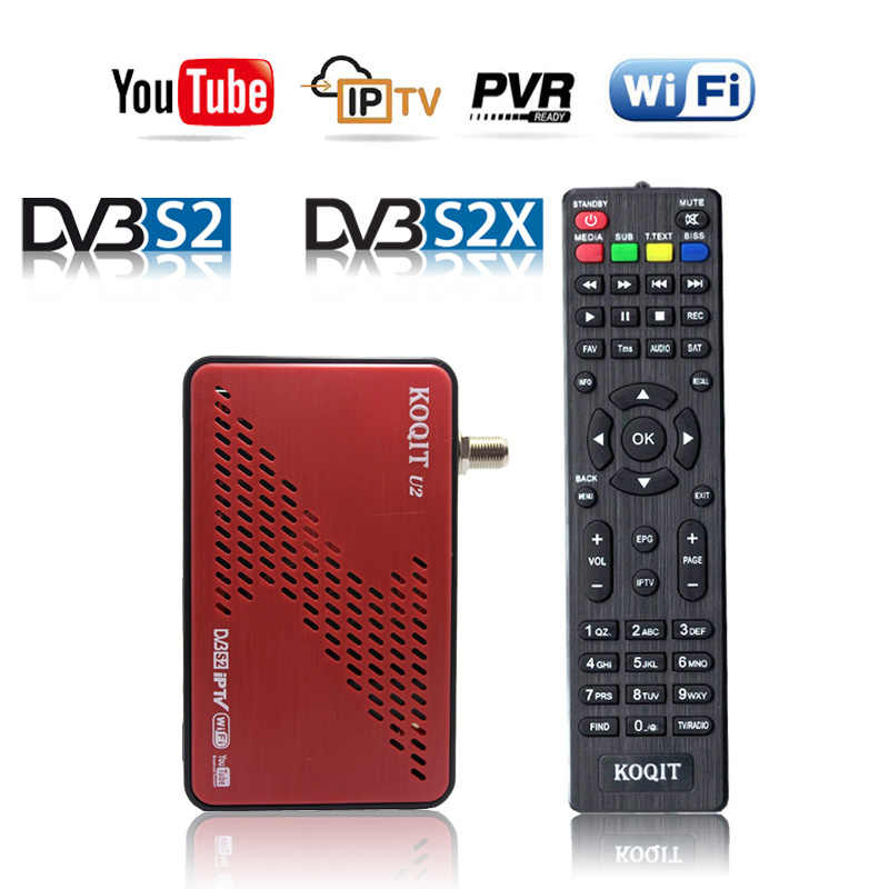 Gratis Dvb S2X Decoder DVB-S2 Receptor Satelliet Recevier Satelliet Tv Youtube Internat Finder Autoroll Biss Key Power Vu Scam Iks
