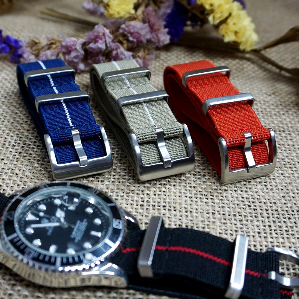New Design French Troops Parachute Bag For Nylon Watch Strap Elastic Belt Nato Strap 20mm 22mm