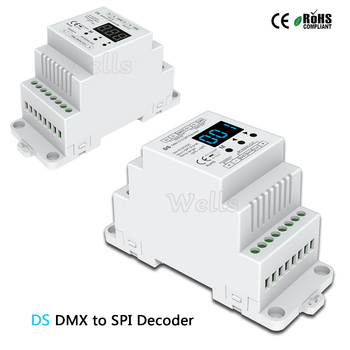 DC5V 12V 24V DS DMX512 signal to SPI Converter DMX decoder controller support 6803/8806/2811/2812/2801/3001/9813 IC bc 820 dmx512 to spi signal decoder convertor controller for lpd6803 8806 ws2811 2801 ws2812b 9813 led pixel light dc5v 24v