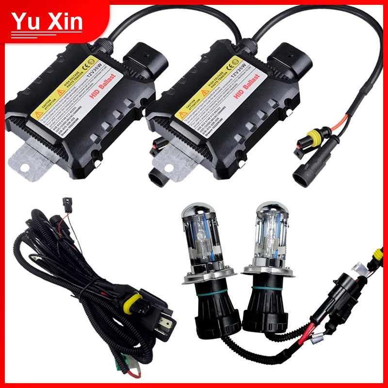 35W HID <font><b>kit</b></font> bixenon <font><b>h4</b></font> h13 9007 bi <font><b>xenon</b></font> headlight <font><b>kit</b></font> 4300k 6000k 8000k <font><b>10000k</b></font> 12000k hi/lo beam Car <font><b>xenon</b></font> <font><b>kit</b></font> image