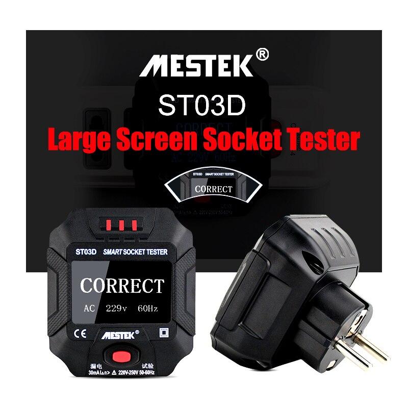 Smart Socket Tester Frequency Voltage Test Socket Detector 90~250V//45~ 65Hz