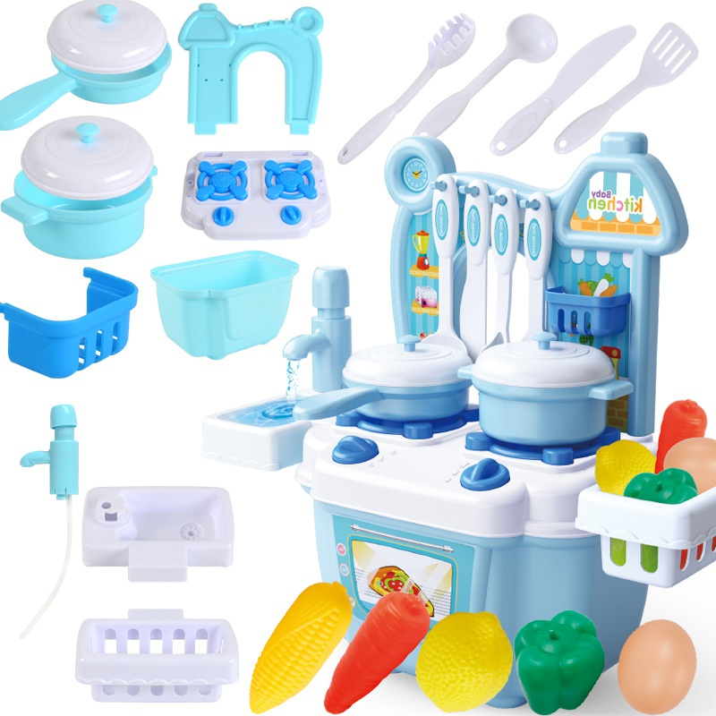 Kitchen Tools Set Cutting Fruit And Vegetables Kitchen Pretend Cook Play Simulation Toy For Kids Girls Boys Funny Mini Kitchen