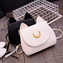 Anime Sailor Moon omuz çantaları Cosplay prop Luna moda yaz el çantası bayanlar için