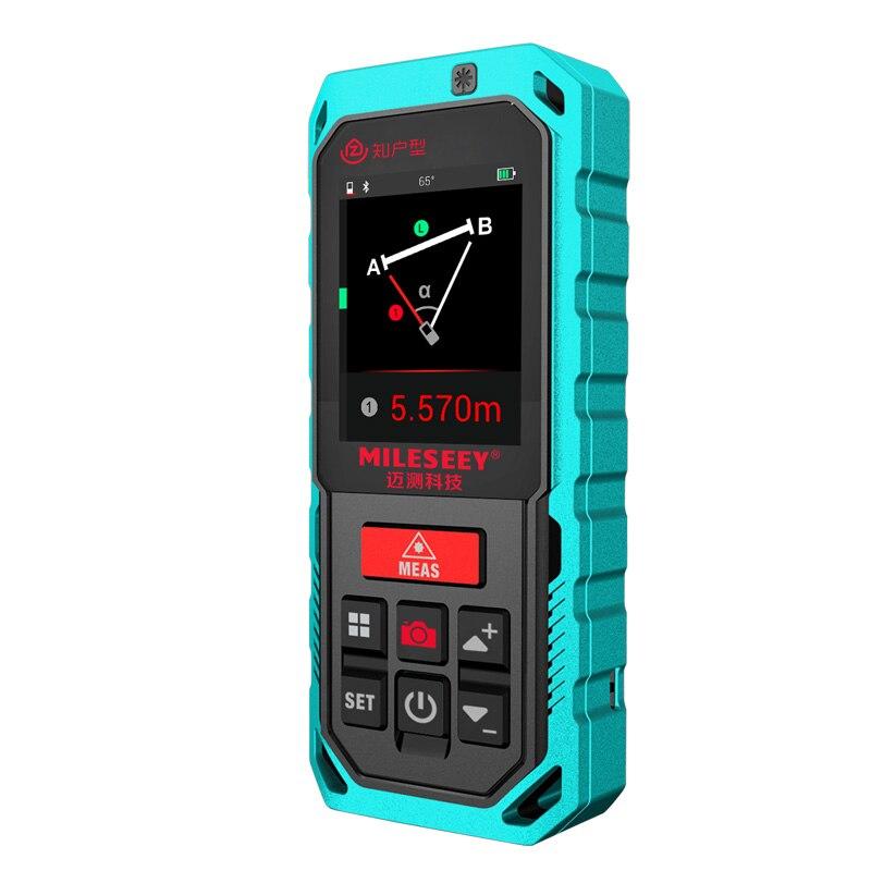 Neue Mileseey T7 40M 60M 100M Bluetooth Laser-entfernungsmesser mit Dreh Touchscreen Recharger Laser Meter