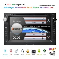 7Touch Screen Car DVD Player for VW Golf4 T4 Passat B5 Sharan with GPS Bluetooth Radio Canbus SD USB 8GB Map