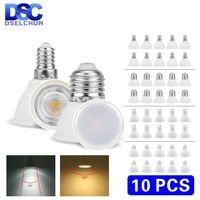 Bombilla LED MR16 GU5.3 GU10 E27 E14 6W 220V-240V, foco de luz LED de foco para lámpara LED, 24/120 grados, 10 Uds.