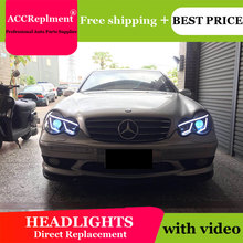 For Benz W203 2001 2007 Headlights All LED Headlight DRL Dynamic Signal Hid Head Lamp Bi Xenon Beam Accessories Car Styling