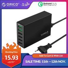 ORICO USB зарядное устройство 6 портов умный настольный адаптер для быстрой зарядки мобильный телефон для Samsung Huawei iPhone