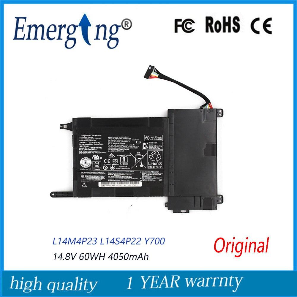 14.8V 60WH 4050mAh New Original Laptop Battery L14M4P23  For Lenovo IdeaPad  Y700 Y700-17iSK Y700-15ISK 5B10H22084 L14S4P22