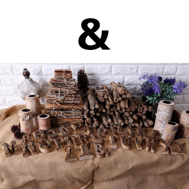 Вместе с коры твердой древесины Ретро Деревянный Английский алфавит номер для кафетерий украшение для дома, ресторана винтажная самодельная буква - Цвет: And
