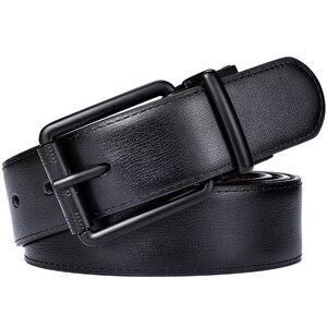 Image 5 - Couro masculino reversível cinto casual jean roller buckle 34mm um reverso para 2 cores