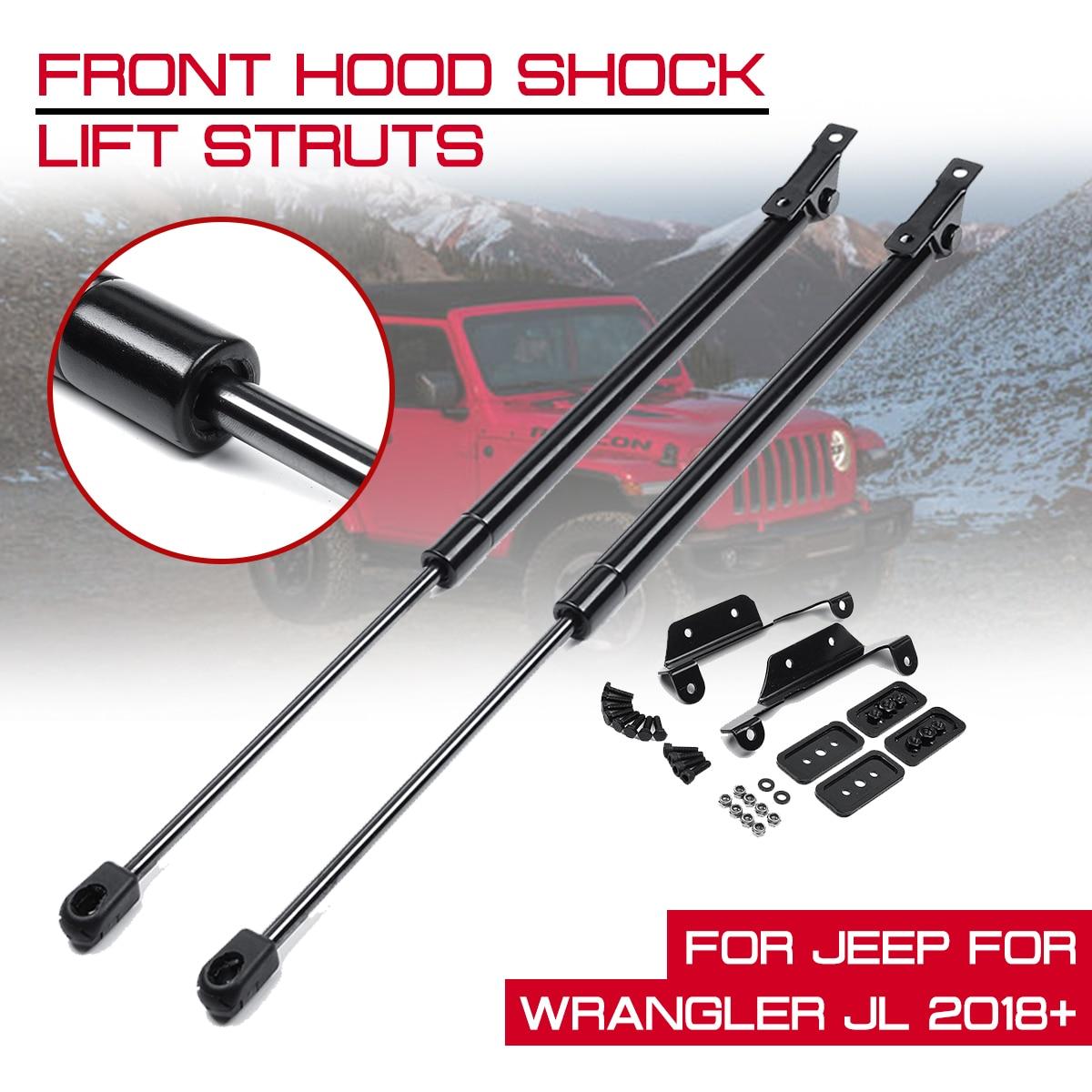 Car Front Engine Cover Bonnet Hood Shock Lift For Jeep Wrangler JL 2018 2019 Strut Struts Bar Support Rod Arm Gas Spring Bracket