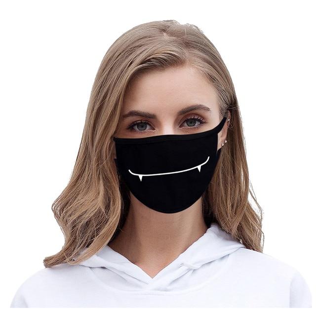 KPOP Unisex Funny Print Mouth Mask Women Outdoor Face Mask Winter warm Cotton Funny Facial Masks K-pop mondmasker wasbaar 2