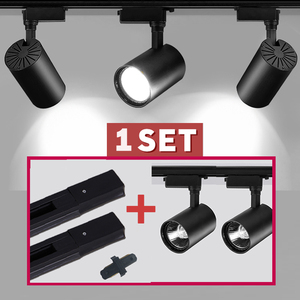 Whole Set Led Track Light COB Track Lamp 12W 20W 30W 40W Rail Lighting Aluminum Spot Lights Fixtures For Clothing Shop Home 220V