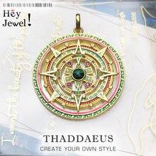 Pendentifs or mythique amulette aztèque, 2020 nouveaux bijoux Vintage 925 en argent Sterling accessoires puissant cadeau magique pour les femmes