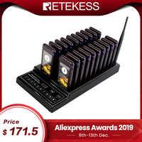 RETEKESS T112 999 pièces sans fil restaurant système de radiomessagerie système de file d'attente étanche restaurant téléavertisseur serveur appelant téléavertisseur pour café