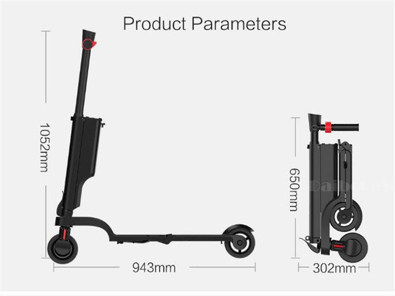HX X6 Folding Electric Scooter Two Wheel Electric Scooters Mini Protable Backpack E-Scooter Electric Bike Ebike                  (29)