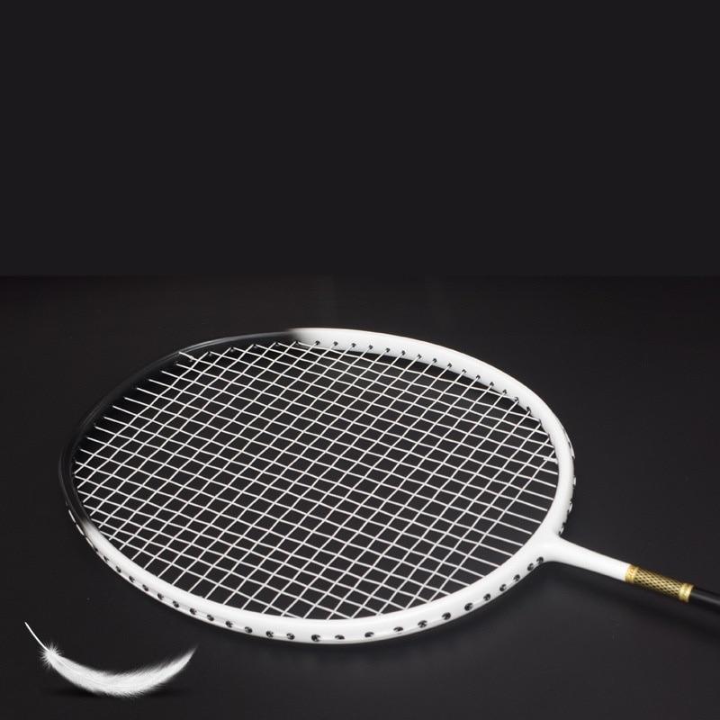 1 Handle Badminton Grip Professional Carbon Fiber Badminton Racket Racket Ultra Light Multicolor Racket 22-30lbs Racket