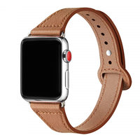 Pasek z prawdziwej skóry do zegarka Apple 38mm 42mm iWatch 5 pasek 44mm 40mm szczupły pasek do bransoletki zegarek Apple 3/4/2/1 40 44 38mm