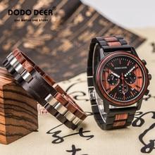 Relogio Masculino DODO DEER Wooden Watch For Men fashion stainless steel