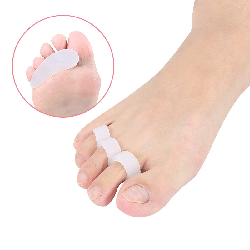 1Pair Silicone Separator Toes Hallus Valgus Bunion Gel Toe Separateur Orteil Gel Corrector Tools Orthotic Feet Care Manicure