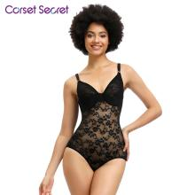 Corset Secret Women Butt Lifter Sexy Lace Bodyshaper Shaperwear Waist Trainer Bodysuits Adjustable Shoulder Strap