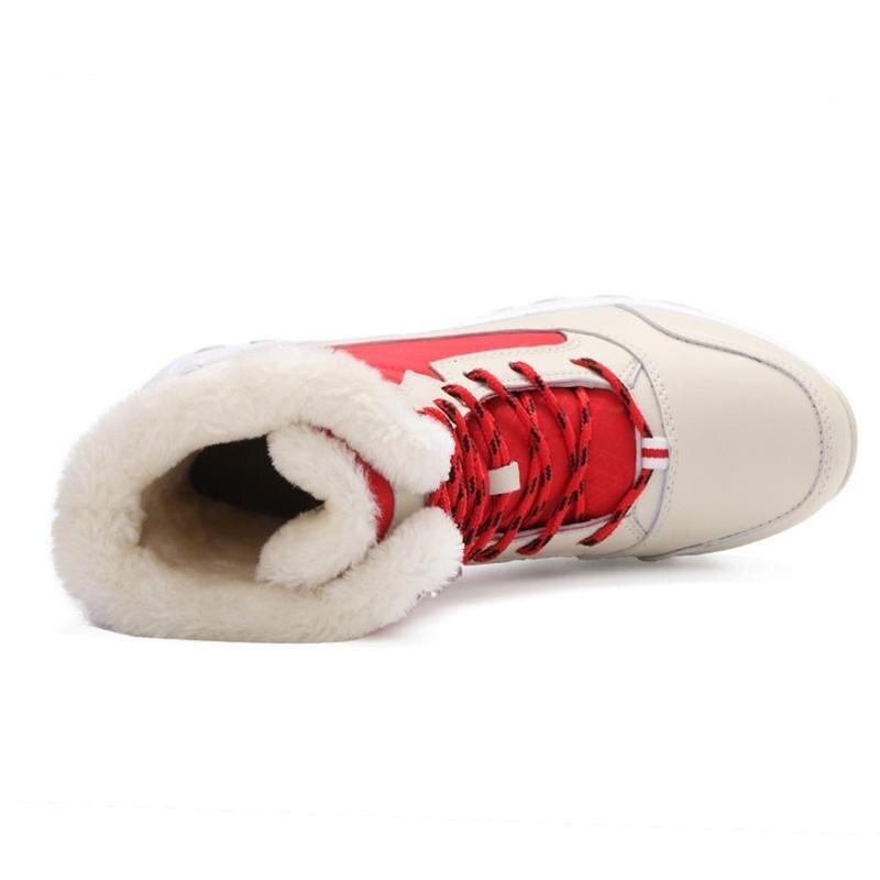 Зимние уличные теплые зимние сапоги Водонепроницаемый Нескользящие толстые сапоги на толстой подошве, теплая обувь на толстом высокого класса с бархатом для снежной погоды;