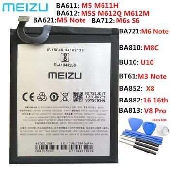 New Original BA611 BT61 BA612 BA621 BA711 BA712 BT66 Battery For Meizu M2 M3 Note L681 5S M5S M5 M6 S6 MX6 E2 M5 Note 16X X8 M8c meizu 100% original bt42c bt61 ba612 bu10 bu15 battery for meizu m2 m3 note l681 5s m5s u10 u20 mobile phone tracking number