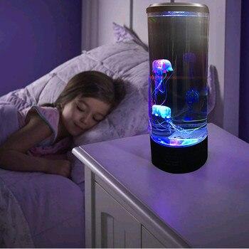 Прикроватный светодиодный настольный светильник Медузы тропическая рыба аквариум светодиодный светильник расслабляющий прикроватный но...
