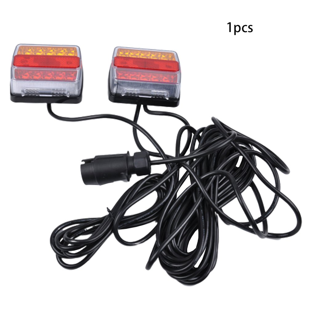 Led Taillight Safety Warning Light Steering Indicator Brake Truck Trailer Taillight Red And Yellow