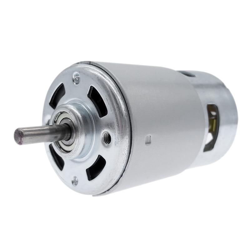 RS 775 двигатель постоянного тока 12 В 24 В с двойным шариковым подшипником RS775 с большим крутящим моментом и низким уровнем шума