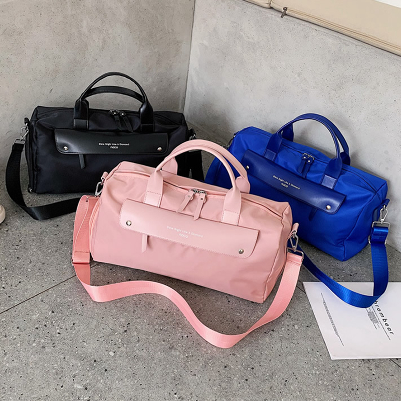 New Fashion Pink Travel Sport Gym Bag Women Swiming Waterproof Dry Wet Shoe Pouch Yoga Duffle Bags Big Capacity Luggage Handbags