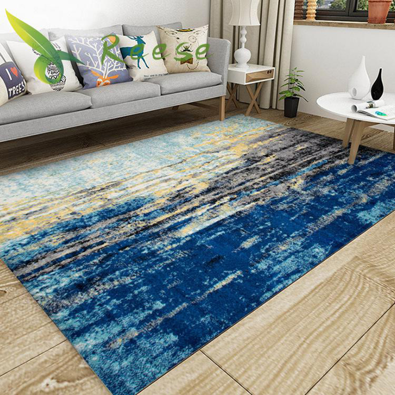 Modern European Abstract Watercolor Pattern Rugs And Carpets For Home Living Room Large Size Machine Washable Can Be Customized in Carpet from Home Garden