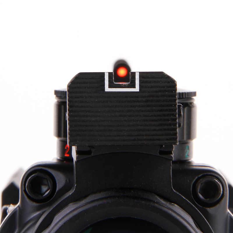 Tactische 4X32 אוויר רובה היקף צלב בtasje En Blauw W/Tri-Verlichte Reticle סיבי אופטיקה Sight Riflescope Voor airsoft Jacht
