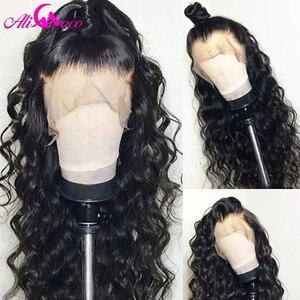 Image 2 - 브라질 깊은 곱슬 인간의 머리가 발 13x6 레이스 프런트 인간의 머리가 발 150% 밀도 흑인 여성을위한 pre 뽑은 레미 헤어 레이스가 발