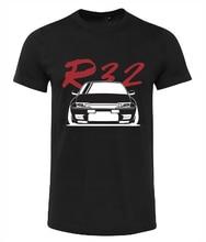 NISSAN SKYLINE R32 GTS-T GTR T-SHIRT SHIRT GIFT CAR BLACK WHITE