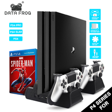 3 in 1 For PS4/PS4 Slim/PS4 PRO Vertical Stand With Dual Controller Charger Station Games Sony Playstation 4 Cooling Fan