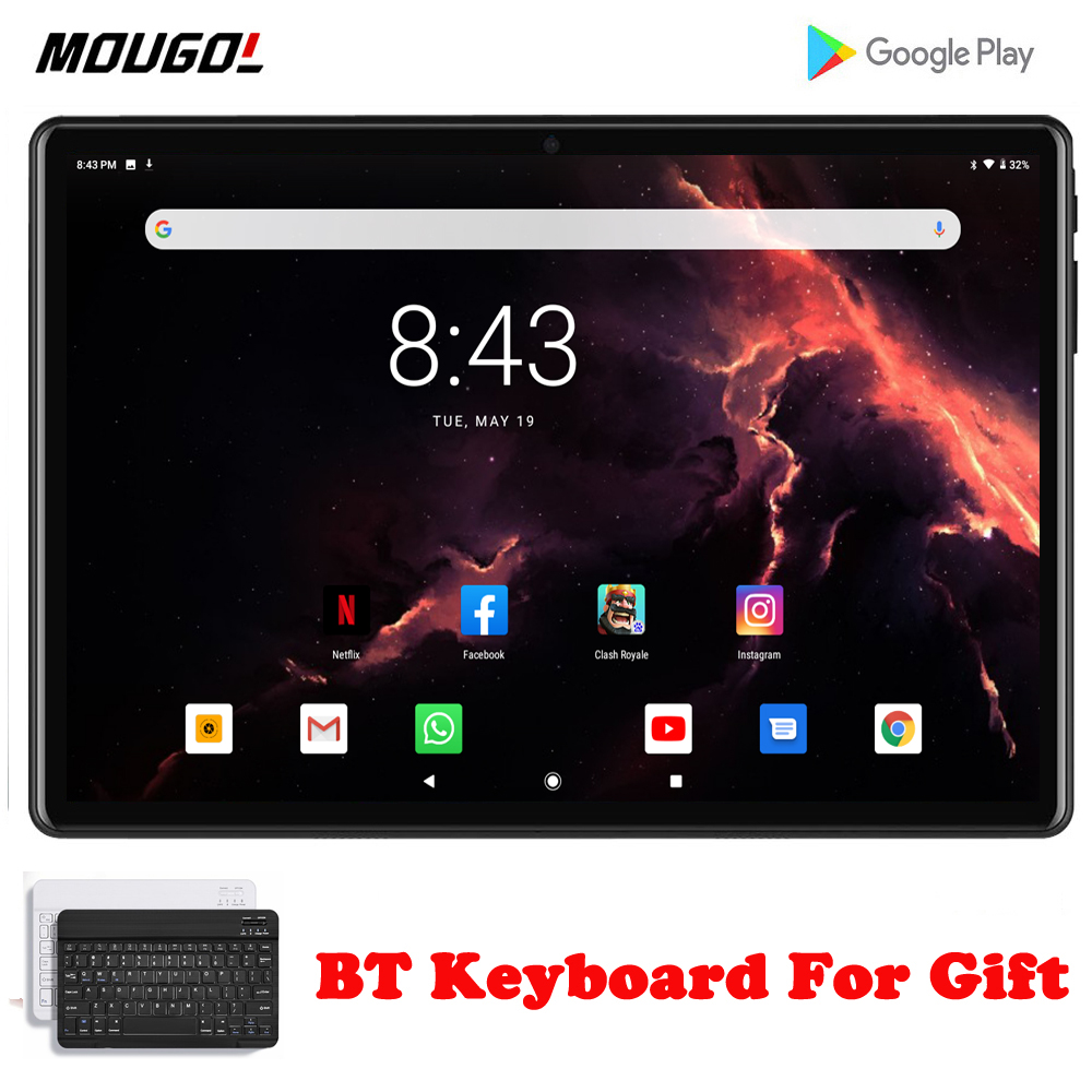 New 10 Inch Phone Call Tablet SIM Card Quad Core WiFi Make Call Tablet Pc Android 9.0 WIFI Bluetooth 2GB+32GB IPS Phablet 10.1