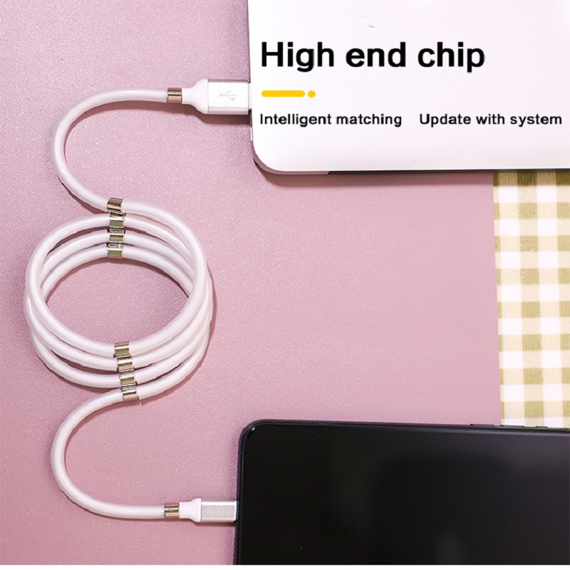 Micro USB Type C Cable Charger Date Cable Magnetic Easy To Coil And Organize Wire For Samsung Huawei Xiaomi Android For IPhone
