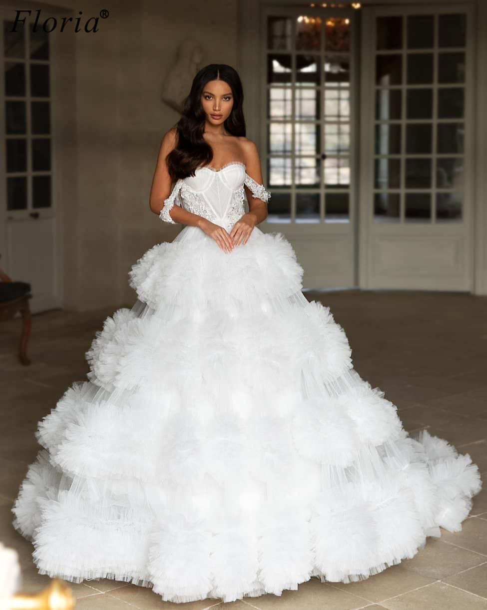 Special Pregnant White Wedding Dresses A-Line African Sweetheart Wedding Gowns Vintage Vestidos De Novia 2020 Bridal Gowns