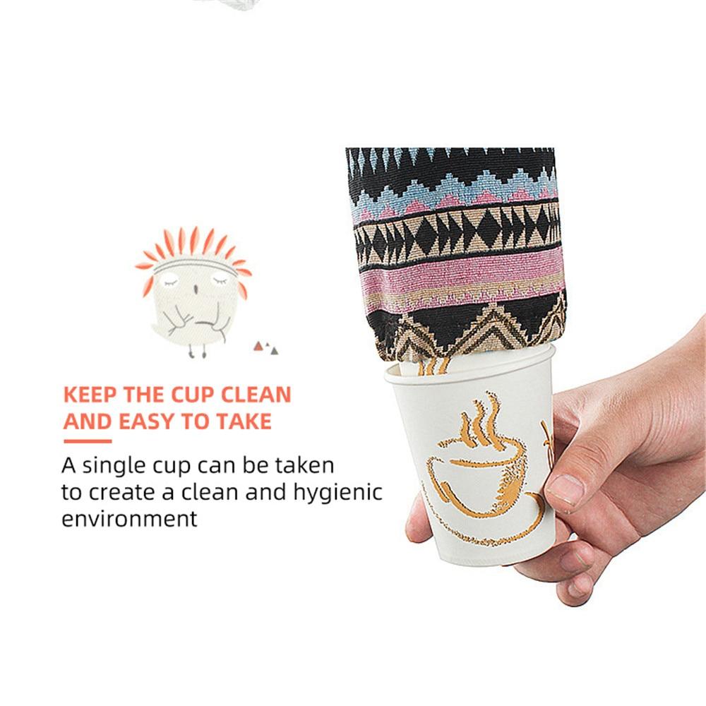 Открытый одноразовый бумага стакан хранение сумка портативный подвесной сумка водонепроницаемый кемпинг чашка органайзер быстрая доставка