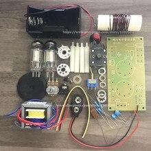 Kit de radio de tubo regenerativo DC dos luces, onda corta/onda media, kit de radio AM con placa PCB, 1 unids/lote