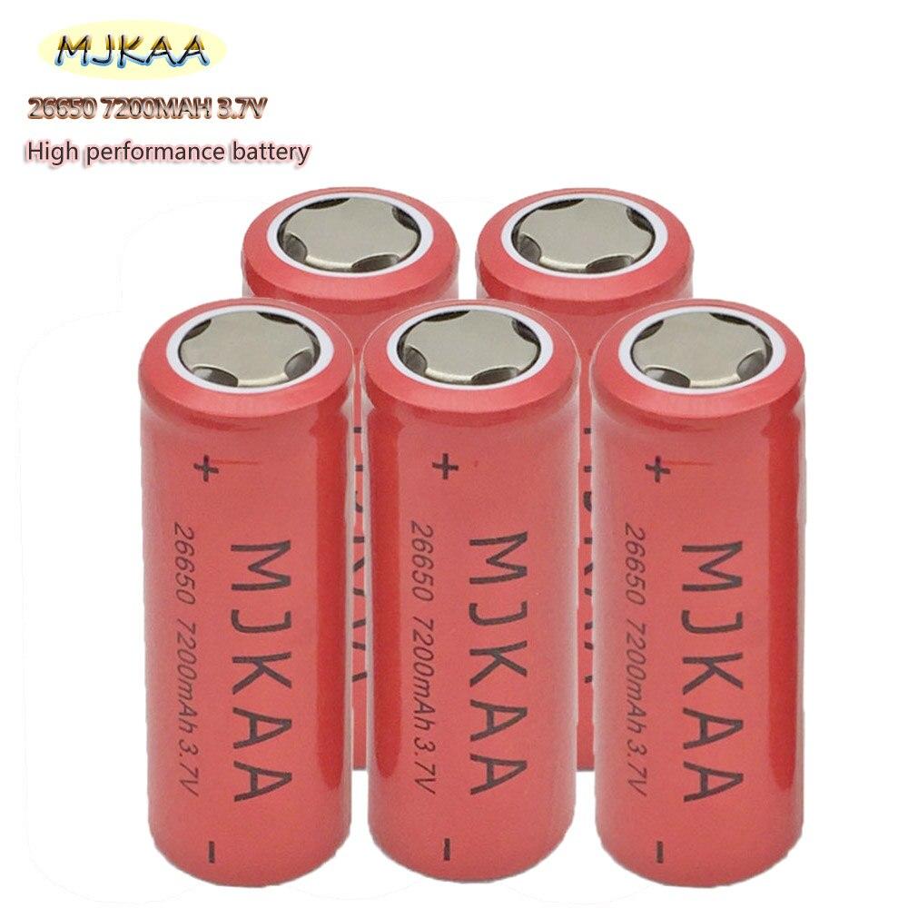 New Cheap MJKAA Lii-LON 50A 26650 7200mah Rechargeable Battery 26650-50A Lithium Ion 3.7v Battery For Flashlight AKKU