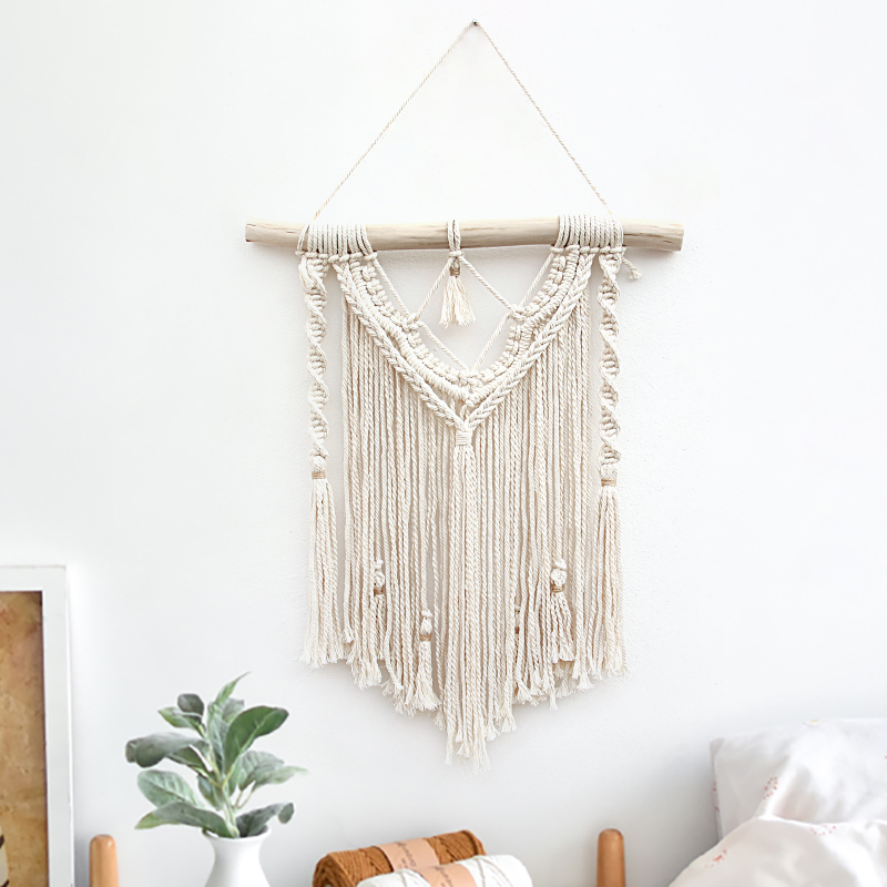 Macrame Wall Hanging Bohemian Tapestry Hand Wovening Tassel Home Living Room Decoration