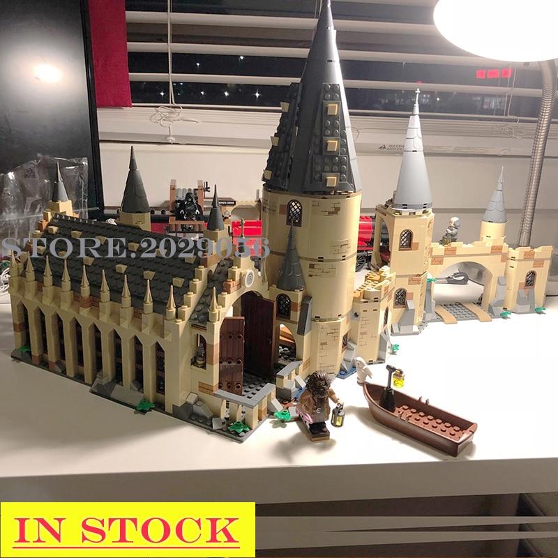 In Stocks 11007 Potter Magic World Movies Series H Gwarts Great Hall 878Pcs Model Building Blocks 75954 39144 16052 Toys