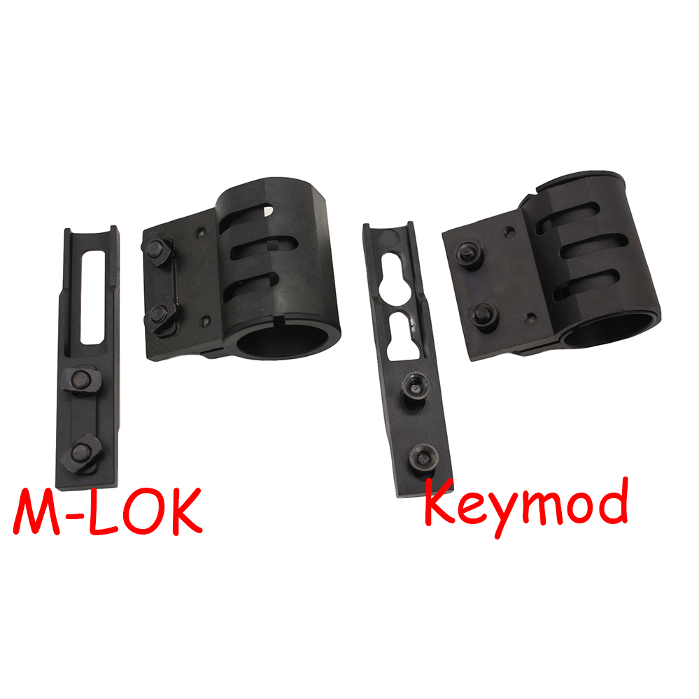 "1Pcs //Set Keymod 1/"" 25.4mm Flashlight Mount Quad Rail Handguard Mount Black"