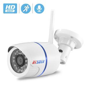 Image 1 - BESDER אודיו 720P 1080P Wifi Ip CCTV מצלמה חיצונית מעקב לבן Waterptoof Onvif אלחוטי מצלמה עם כרטיס SD חריץ CamHi