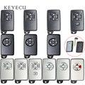 Keyecu для Toyota  запасная смарт-карта  дистанционный автомобильный чехол для ключей  чехол  2/3/4/5 кнопки с нерезаемым лезвием (только оболочка)